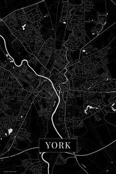 Harta orașului York black