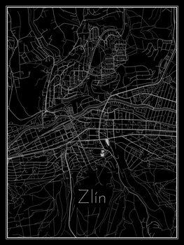 Harta orașului Zlín