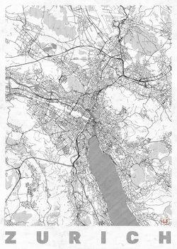 Harta orașului Zurich