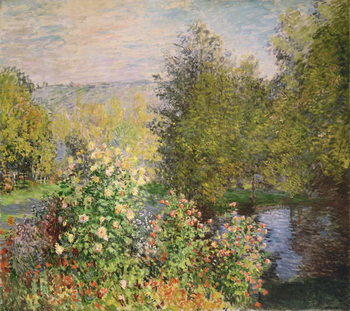 A Corner of the Garden at Montgeron, 1876-7 Reproducere
