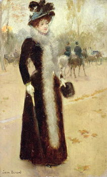 A Parisian Woman in the Bois de Boulogne, c.1899 Reproducere