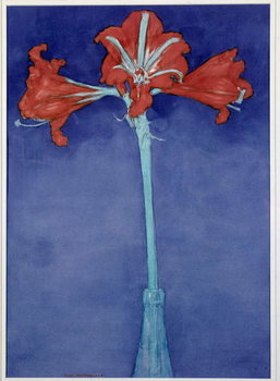 Amaryllis (Hippeastrum) Painting by Piet Mondrian  New York, Museum of Modern Art Reproducere