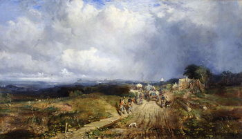 Baggage Wagons Approaching Carlisle, 1849 Reproducere