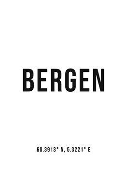 Ilustrare Bergen simple coordinates