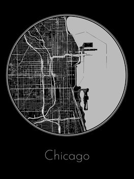 Harta orașului Chicago