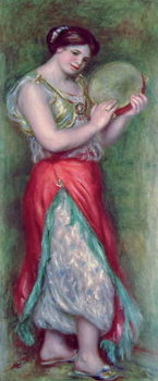 Dancing Girl with Tambourine, 1909 Reproducere