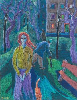 Evening Walk, 2005 Reproducere
