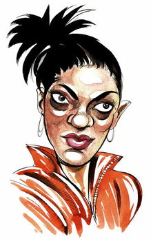 Freema Agyeman as Martha Jones, companion of 10th Doctor Who in BBC television series Doctor Who Reproducere