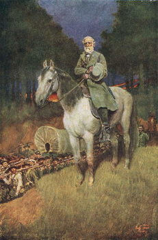 General Lee on his Famous Charger, 'Traveller', illustration from 'General Lee as I Knew Him' by A.R.H. Ranson, pub. in Harper's Magazine, 1911 Reproducere