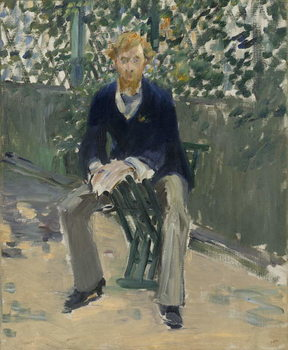 George Moore in the Artist's Garden, c.1879 Reproducere