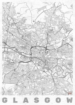 Harta orașului Glasgow
