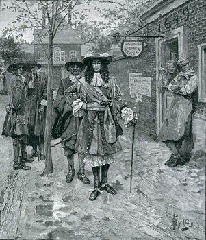 Governor Andros and the Boston People, engraved by A. Whitney, from Harper's Magazine, 1883 Reproducere