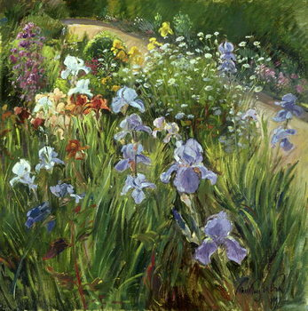 Irises and Oxeye Daisies, 1997 Reproducere
