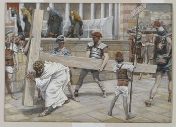 Jesus Bearing the Cross, illustration from 'The Life of Our Lord Jesus Christ', 1886-94 Reproducere