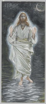 Jesus Walks on the Sea, illustration from 'The Life of Our Lord Jesus Christ' Reproducere