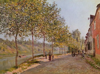 June Morning in Saint-Mammes, 1884 Reproducere