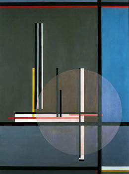 LIS, 1922, by Laszlo Moholy-Nagy , oil on canvas, 132 x 102 cm. Hungary, 20th century. Reproducere