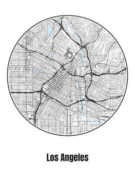 Harta orașului Los Angeles