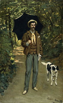 Man with an Umbrella, c.1868-69 Reproducere