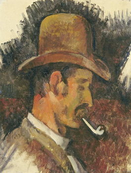 Man with Pipe, 1892-96 Reproducere
