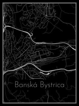 Ilustrare Map of Banská Bystrica
