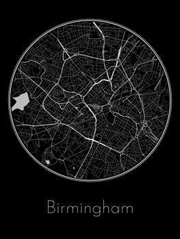 Ilustrare Map of Birmingham
