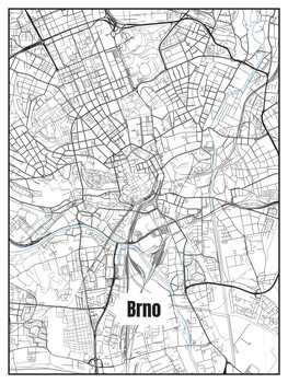 Ilustrare Map of Brno