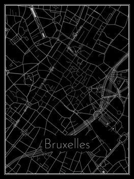 Ilustrare Map of Bruxelles