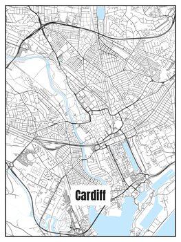Ilustrare Map of Cardiff
