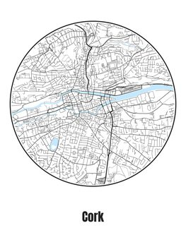 Ilustrare Map of Cork