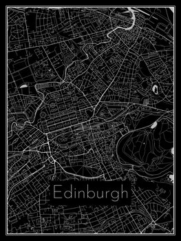 Ilustrare Map of Edinburgh