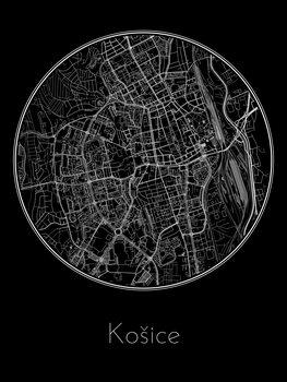 Ilustrare Map of Košice