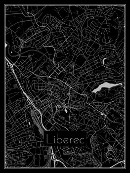 Ilustrare Map of Liberec