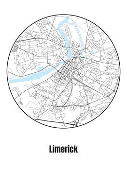 Ilustrare Map of Limerick
