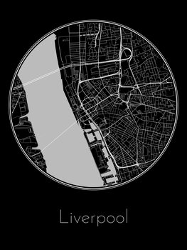 Ilustrare Map of Liverpool