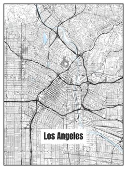 Ilustrare Map of Los Angeles