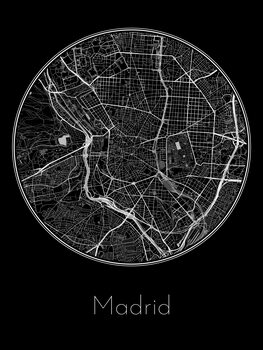 Ilustrare Map of Madrid