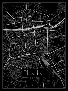 Ilustrare Map of Plovdiv