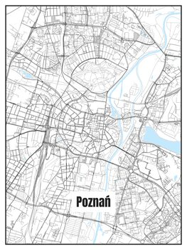 Ilustrare Map of Poznań