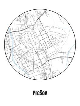Ilustrare Map of Prešov