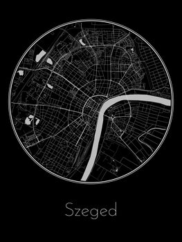 Ilustrare Map of Szeged