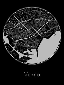 Ilustrare Map of Varna