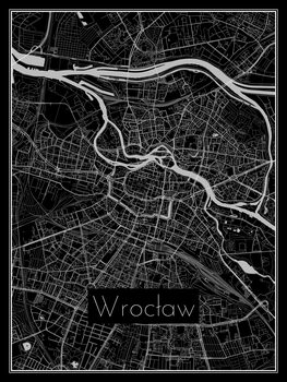 Ilustrare Map of Wrocław
