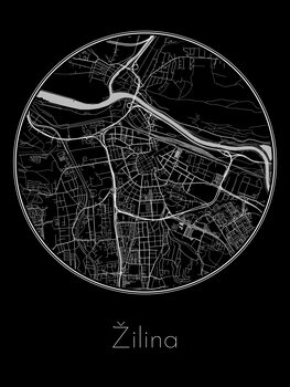 Ilustrare Map of Žilina