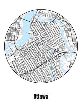 Harta orașului Ottawa