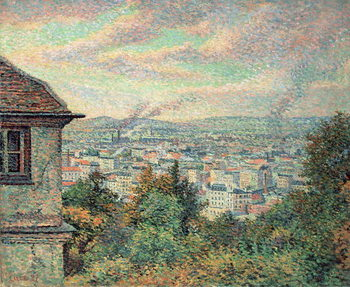Paris, View of Montmartre Reproducere