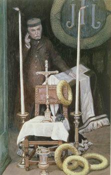 Portrait of the Pilgrim (Self-Portrait), illustration for 'The Life of Christ', c.1886-96 Reproducere