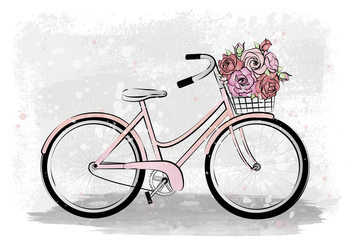 Ilustrare Romantic Bike