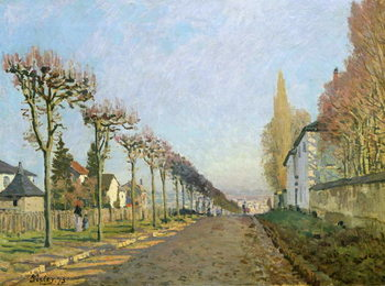 Rue de la Machine, Louveciennes, 1873 Reproducere