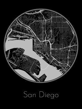 Harta orașului San Diego